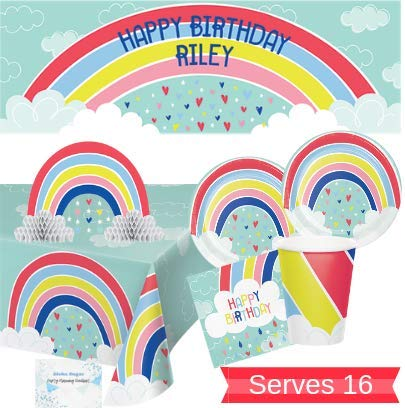 Rainbow Party Supplies and Decorations - Rainbow Plates