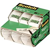 Scotch Magic(TM) Tape,  3/4 x 300-inches-Transparent-3 ct