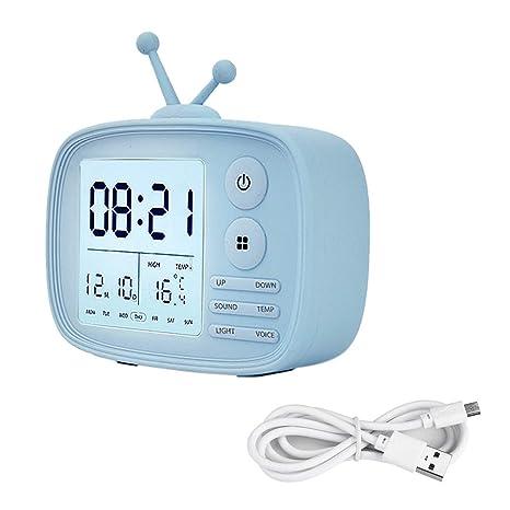 KUNSE DC 5V Reloj De Alarma Digital Pantalla De La ...