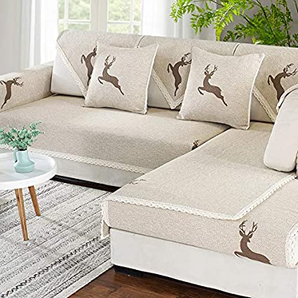 Brilliant Linen Anti Slip Sectional Couch Cover Slipcover European Camellatalisay Diy Chair Ideas Camellatalisaycom