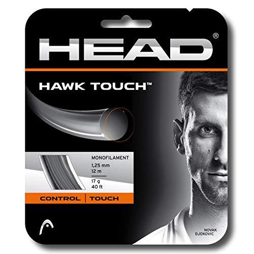 HEAD Hawk Touch ブラック カラー ポリ (コーポリ) テニスラケット ストリングセット - 17/18/19ゲージ - マルチパック - コントロールとスピンに最適 (2-46-8パック) 18 Gauge String 8 Sets