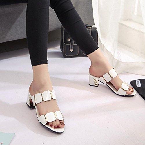 alti antiscivolo Amlaiworld scarpe infradito sandali pantofola del tacchi bianco Donne pesce partito dita bocca f06wRXx0