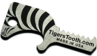 product image for Tiger's Tooth Key Ring Bottle Opener - Stainless Steel minimalist keychain tool - EDC