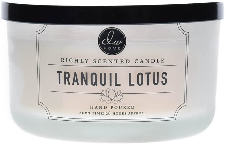 DW Home Tranquil Lotus, Large 3-Wick Candle, 13.8 Oz. In Glass
