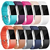 For Fitbit Charge 2 Strap, HUMENN Fitbit Charge 2 Bands Adjustable Replacement Sport Accessory Wristband for Fitbit Charge2 Small Large, 15 Colours