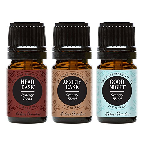 Edens Garden 5ml Value Pack Head Ease, Anxiety Ease, Good Ni