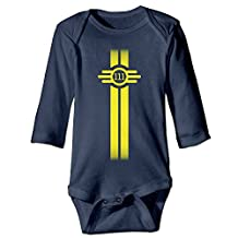 Kids Baby Fallout 4 Vault 111 Long-sleeve Romper Jumpsuit Navy