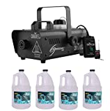 Chauvet DJ Hurricane 1000 H1000 Fog/Smoke Machine w/ (4) FJU Gallons Fog Juice