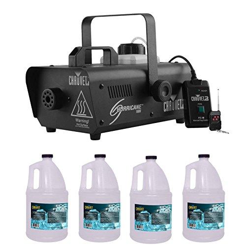 Chauvet DJ Hurricane 1000 H1000 Fog/Smoke Machine w/ (4) FJU Gallons Fog Juice by Chauvet DJ