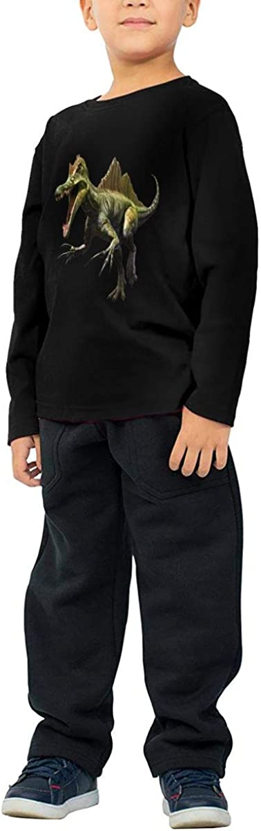 GongCZL Art Dinosaur Shirt for Baby Boy Girl Black