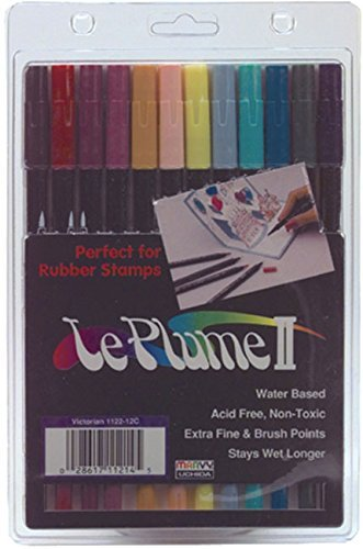 Tip Marker America Double (Leplume Ii Markers (Victorian Colors) - 12 per Package)
