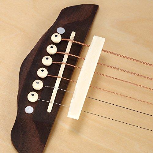 neewer 6 string acoustic guitar bone bridge saddle and nut made of neewer ebay. Black Bedroom Furniture Sets. Home Design Ideas