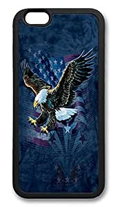 iPhone 6 Cases, American Bald Eagle And Usa Flag Durable Soft Slim TPU Case Cover for iPhone 6 4.7 inch Screen (Does NOT fit iPhone 5 5S 5C 4 4s or iPhone 6 Plus 5.5 inch screen) - TPU Black