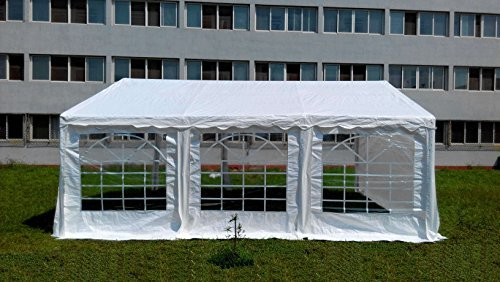 American Phoenix Canopy Tent foot Large White Party Tent Gazebo Canopy Commercial Fair Shelter Car Shelter Wedding Events Party Heavy Duty Tent- (White, 20x20)