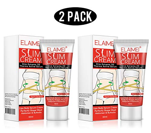 2 Pack Slimming Cream,Cellulite Removal Cream Fat Burner Weight Loss Slim Creams Leg Body Waist Effective Anti Cellulite Fat Burning(60ml)