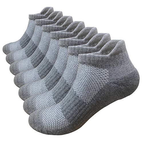 Compression Socks Plantar Fasciitis Women Men 7 Pairs, 8-15 mmhg A4 Gray 7 Pairs, - Walking Support Socks