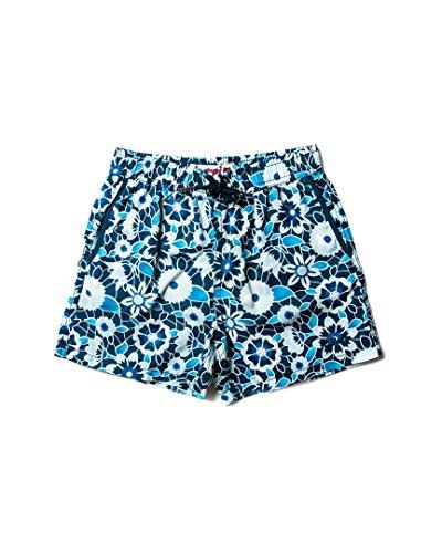 Jr. Swim Little Boys' Lace Floral Swim Trunk, Blue/Navy Floral, 4
