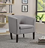 Home Life Armen Linon Grey Sofa Arm Club Chairs Linen Finish