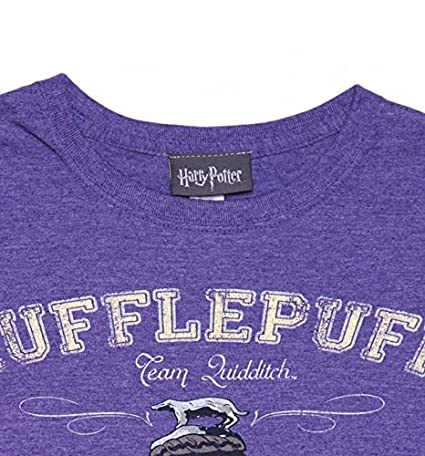 Ladies Purple Heather Harry Potter Hufflepuff Equipo Quidditch T Shirt: Amazon.es: Ropa y accesorios