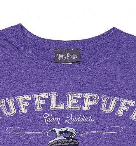Ladies Purple Heather Harry Potter Hufflepuff Equipo Quidditch T Shirt: Amazon.es: Ropa y accesorios