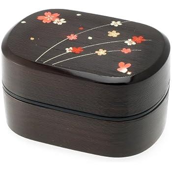 Amazon.com: Kotobuki 2-Tiered Bento Box, Brown/Red Cherry