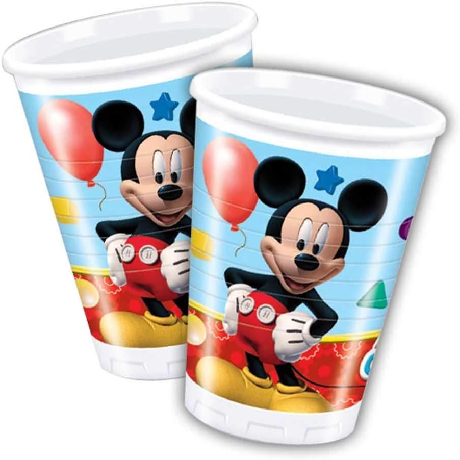 Folat B.V. Pack 8 vasos 200 ml, Mickey Mouse (50864)
