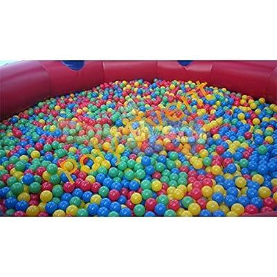 Poly Event Lot de 500 Balles de jeu en plastique pour piscine à balles de 8 cm de diamètre - set de balles colorées pour enfants - jeu balles colorées en plastique jeu jouet pour enfants