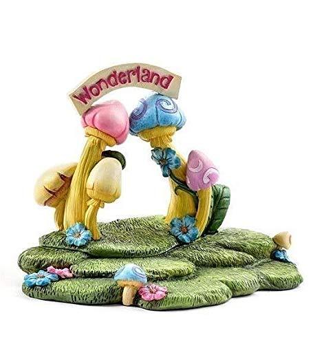 Adjore Miniature Dollhouse Fairy Garden ~ Alice in Wonderland Backdrop Display Platform ~ Best Outdoor Accessory