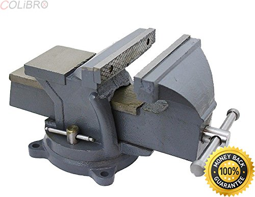 "COLIBROX--8"" Bench Vise Clamp Tabletop Vises Swivel Locking Base Work Bench Top anvil. table vise home depot. clamp on bench vise. clamp on vise harbor freight. best woodworking bench vise amazon."