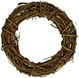 1pcs Natural Grapevine Wreath Ring Wreath DIY Craft Vines Base Grapevine Roll for Rustic Summer Fall Christmas Wreath Door Garland Home Wedding Party Decor Gift Hanging Decor Wreaths Supplies, 20inch