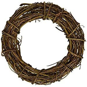 Natural Grapevine Wreath Rustic Ring Wreath DIY Craft Vines Base Grapevine Roll for Rustic Summer Fall Christmas Wreath Door Garland Home Wedding Party Decoration Gift Hanging Decor Wreaths Supplies 2