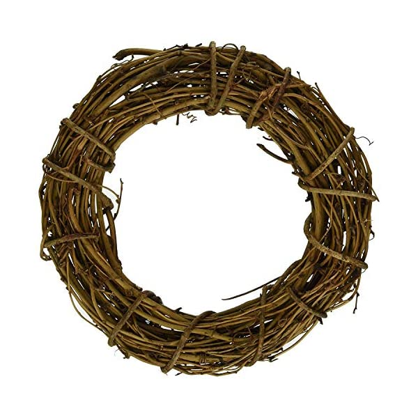 1pcs Natural Grapevine Wreath Ring Wreath DIY Craft Vines Base Grapevine Roll for Rustic Summer Fall Christmas Wreath Door Garland Home Wedding Party Decor Gift Hanging Decor Wreaths Supplies, 16inch