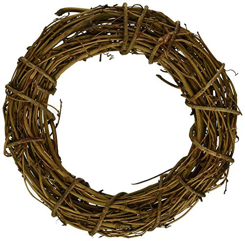 1pcs Natural Grapevine Wreath Ring Wreath DIY Craft Vines Base Grapevine Roll for Rustic Summer Fall Christmas Wreath Door Garland Home Wedding Party Decor Gift Hanging Decor Wreaths Supplies, 10inch