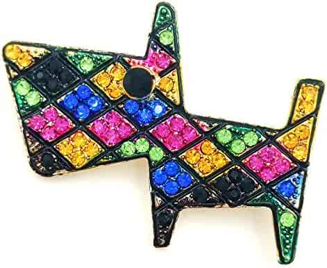 3296fe000 DREAMLANDSALES Geometric Designer Micro Pave Colored Crystal Dog Brooches  Tangram Pins Animal Jewelry