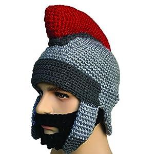 d6bdc0a40bb Kafeimali Men s Knight Knit Beard Hat Original Barbarian Warrior Halloween  Caps