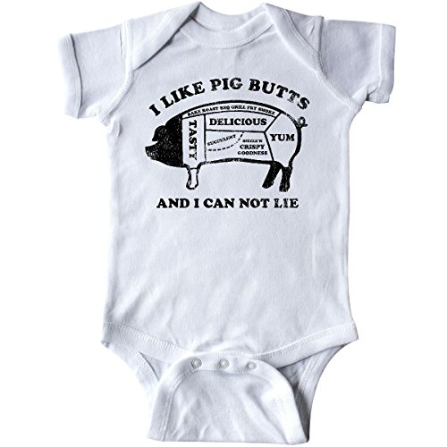 inktastic Like Pig Butts Infant Creeper 6 Months White