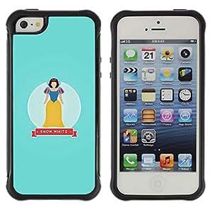 Híbridos estuche rígido plástico de protección con soporte para el Apple iPhone 5 / 5S - snow baby blue fairytale