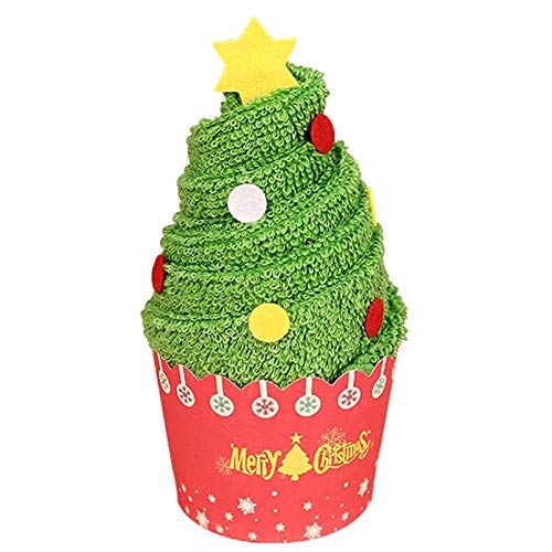 yah! Towel Christmas Tree Santa Claus Christmas Snowman