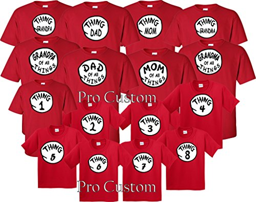 Dr Seuss Thing 1 Thing 2 for Babies, Kids and Adults (S Adult, Thing 2)