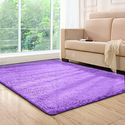 (Lee D.Martin Indoor Area Rugs Living Room Bedroom Rectangle Ultra Soft Carpets Modern Shaggy Children Rugs Anti-Slip Backed Home Décor)