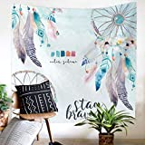 Weiliru Tapestry Wall Hanging Twin Hippie Mandala Bohemian Wall Tapestry Psychedelic Indian Bedspread Mother's Day Decor