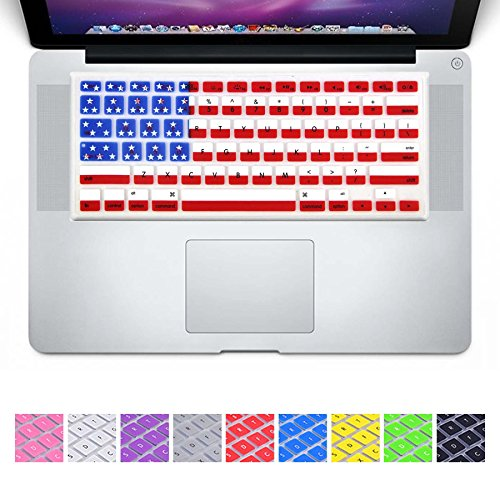 DHZ Macbook Keyboard Cover 2-Pack(1pcs US Flag and 1pcsDHZ Customized Cover) Silicone Skin for Apple MacBook Air 13