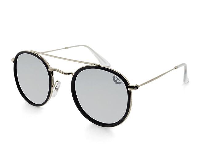 c38766deb3 Gafas de sol MOSCA NEGRA modelo GLAM SILVER efecto espejo - Polarized -  Unisex: Amazon.es: Ropa y accesorios