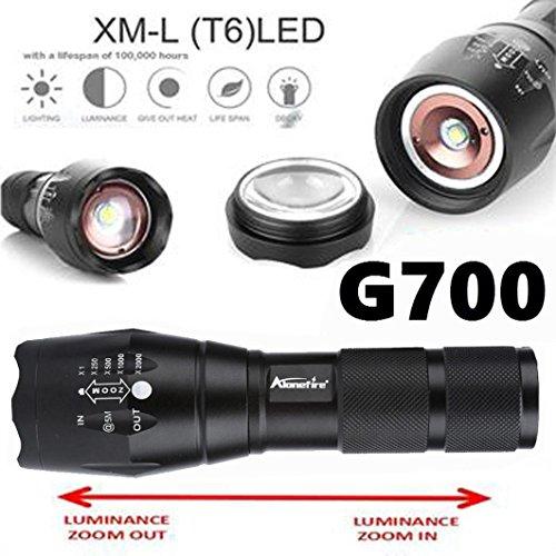 Fabal G700 Tactical Flashlight LED Military Lumitact Alonefire Fashlights Tactical (Black)