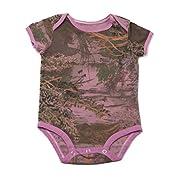 Realtree Camo Onesie Bodysuit, Overdye Pink, 6-9 Months
