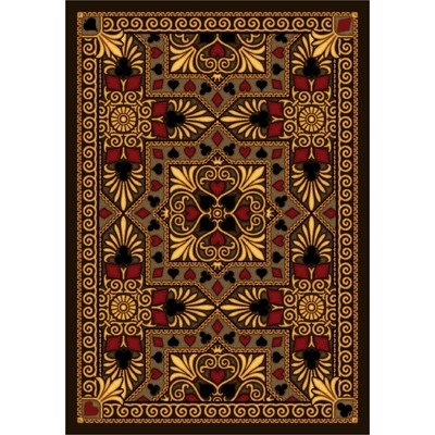 Joy Carpets Games People Play Jackpot Gaming Area Rugs, 64-Inch by 92-Inch by 0.36-Inch, Beige Joy Carpets Games