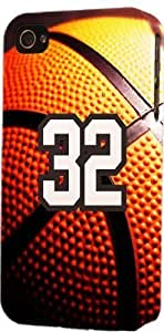 Basketball Sports Fan Player Number 32 Plastic Snap On Decorative iphone 6 4.7 Case