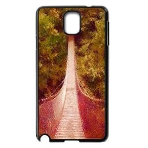 Yearinspace Art bridge in the forest Samsung Galaxy Note 3 Cases bridge wallpaper dap pastels For Guys, Samsung Galaxy Note 3 Case For Men, {Black}