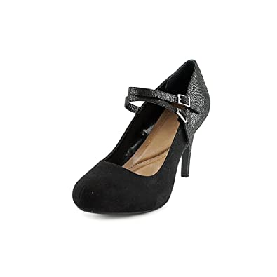 Style Co. Womens PAYSLEE Round Toe Ankle Strap Mary Jane Black Size 7.5