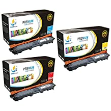 Catch Supplies Replacement TN221 Toner Cartridge 3 Pack Color Set for the Brother TN-221 series|1 TN221C, 1 TN221M, 1 TN221Y| compatible with HL-3140,3150,3152,3170, MFC-9130,9140,9330,9340, DCP-9020